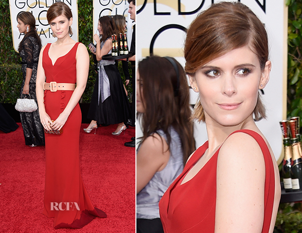 Kate Mara In Miu Miu - 2015 Golden Globe Awards
