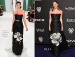 Katharine McPhee In Carolina Herrera - 2015 InStyle and Warner Bros. Golden Globe Awards Post-Party