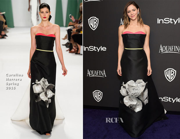 Katharine McPhee In Carolina Herrera - 2015 InStyle and Warner Bros Golden Globe Awards Post-Party