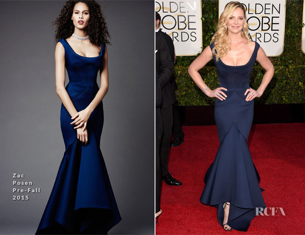 Katherine Heigl In Zac Posen - 2015 Golden Globe Awards