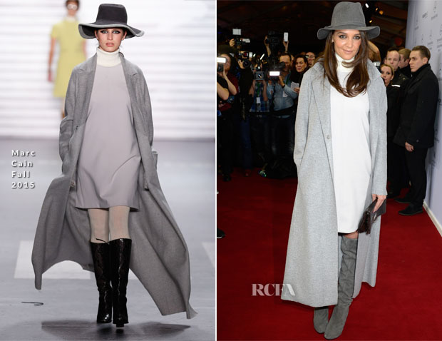 Katie Holmes In Marc Cain - Marc Cain Fall 2015 Fashion Show