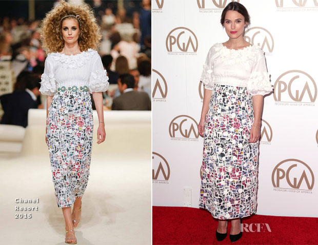 Keira Knightley In Chanel -  2015 Producers Guild Awards