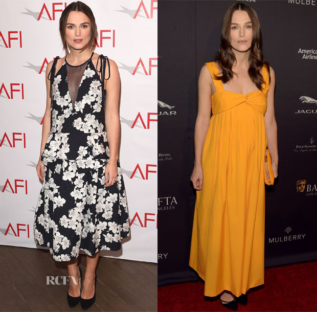 Keira Knightley In Erdem & Hermes - 2015 AFI Awards & 2015 BAFTA Tea Party