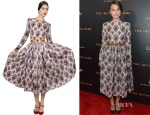 Keira Knightley's Dolce & Gabbana Sacred Heart Printed Silk Organza Dress