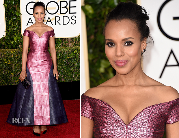 Kerry Washington In Mary Katrantzou - 2015 Golden Globe Awards