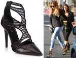 Khloe Kardashian's Tamara Mellon Fever Fishnet Pumps
