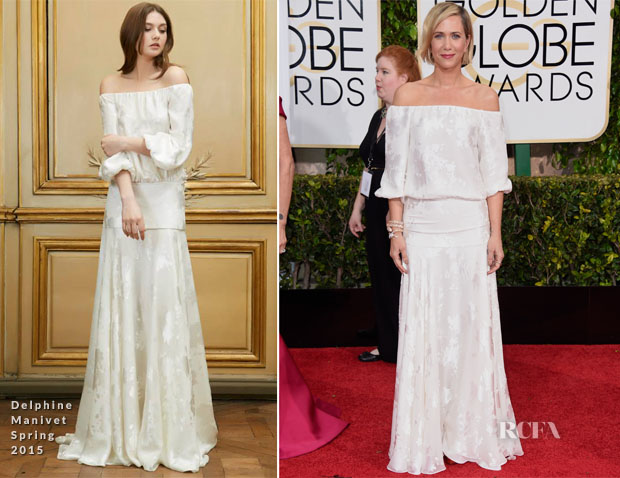 Kristin Wiig In Delphine Manivet - 2015 Golden Globe Awards