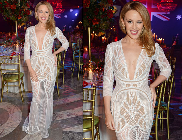 Kylie Minogue In J'Aton Couture - Australian Of The Year In The UK Event