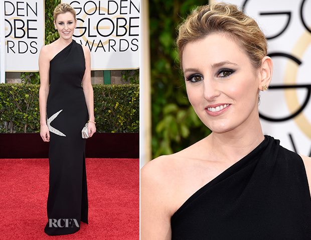 Laura Carmichael In James Galanos - 2015 Golden Globe Awards