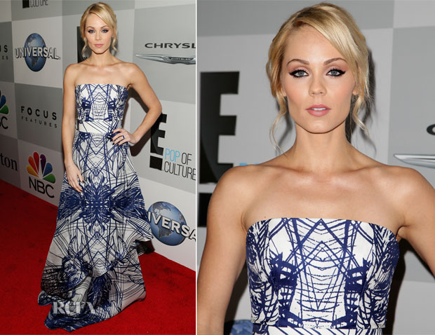Laura Vandervoort In Luis Antonio - NBCUniversal's 2015 Golden Globes After Party