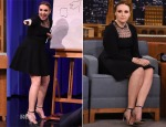 Lena Dunham In Saint Laurent - 'The Tonight Show Starring Jimmy Fallon'