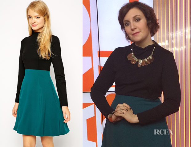 Lena Dunham's ASOS A-Line Skater Dress in Woven Mix