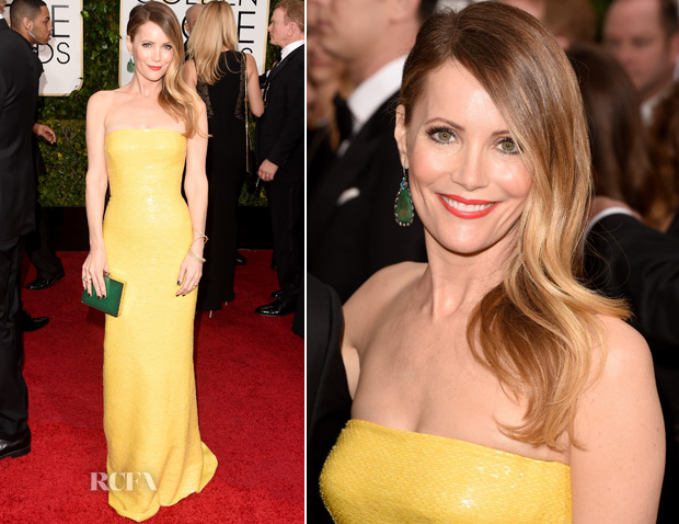 Leslie Mann In Kaufmanfranco – 2015 Golden Globes