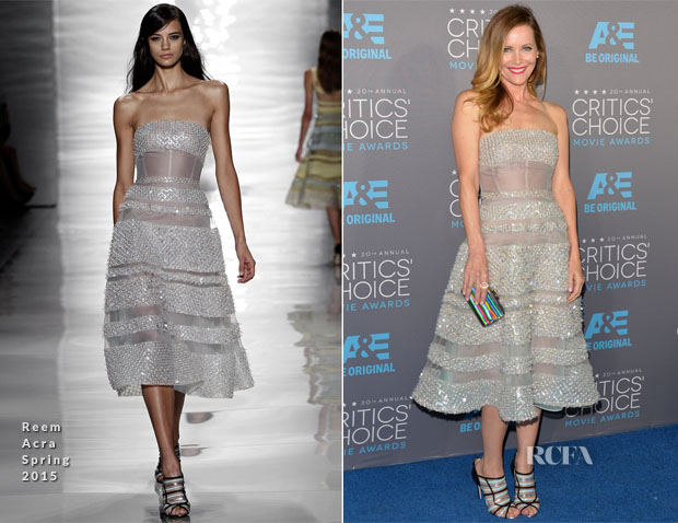 Leslie Mann In Reem Acra - 2015 Critics' Choice Movie Awards