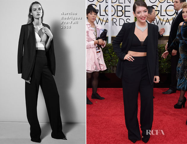 Lorde In Narcisco Rodriguez – 2015 Golden Globes Awards 2
