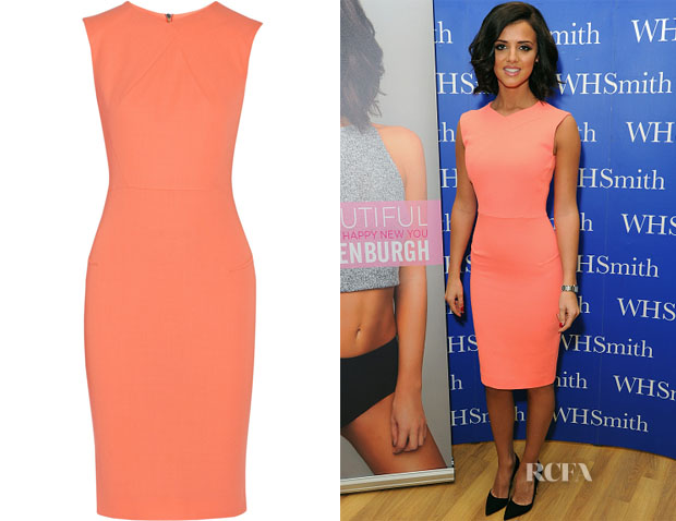 Lucy Mecklenburgh's Roland Mouret Sesia wool-crepe dress