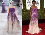 Lupita Nyong'o In Giambattista Valli Couture - 2015 Golden Globe Awards