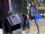 Lupita Nyong'o's Rocks Her Balenciaga 'Cable' Shopper - Out In LA