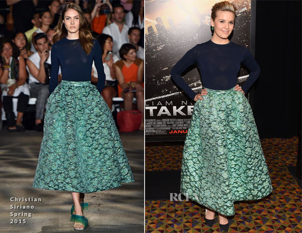 Maggie Grace In Christian Siriano - 'Taken 3' Fan Event New York Screening