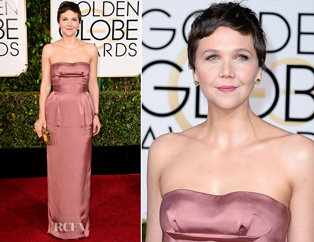 Maggie Gyllenhaal In Miu Miu - 2015 Golden Globe Awards
