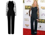 Margot Robbie's Elie Saab Lace Sleeve Jumpsuit