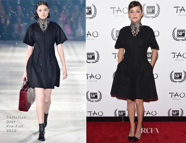 Marion Cotillard In Christian Dior - 2014 New York Film Critics Circle Awards