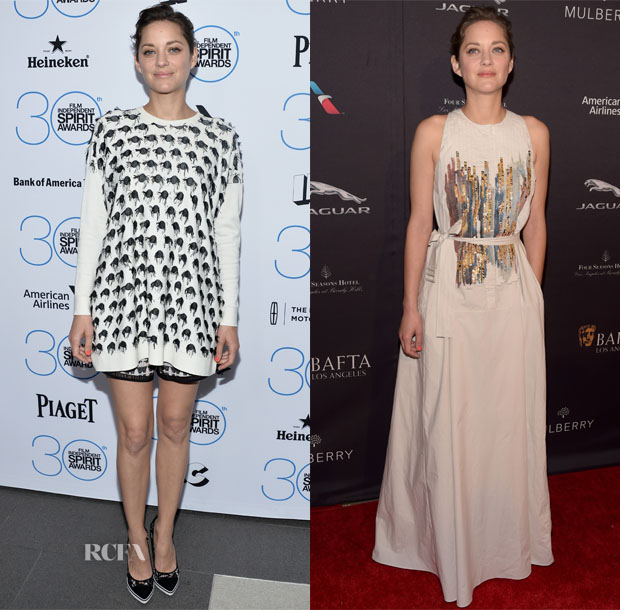 Marion Cotillard In Thakoon & Bottega Veneta - 2015 Film Independent Filmmaker Grant and Spirit Awards Nominees Brunch & 2015 BAFTA LA Tea Party
