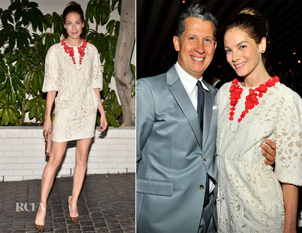 Michelle Monaghan In Giambattista Valli - W Magazine's Golden Globes Celebration