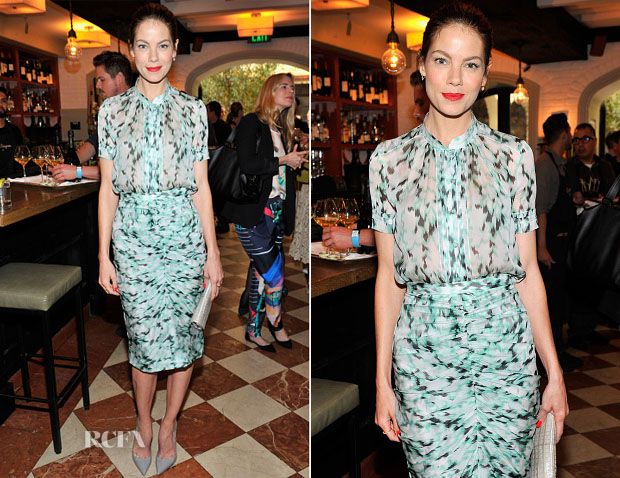 Michelle Monaghan In J Mendel - Lynn Hirschberg Celebrates W's It Girls
