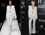 Miley Cyrus In Balmain - Magazine Shooting Stars Exhibit Opening