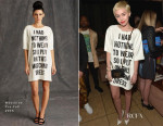 Miley Cyrus In Moschino - The DAILY FRONT ROW 'Fashion Los Angeles Awards'