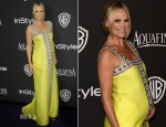 Molly Sims In Lisa Perry - 2015 InStyle and Warner Bros. Golden Globe Awards Post-Party