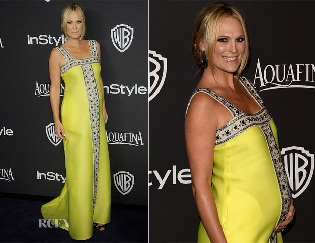 Molly Sims In Lisa Perry - 2015 InStyle and Warner Bros