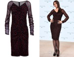 Monica Bellucci's Dolce & Gabbana Ruched Dot-Print Silk Dress