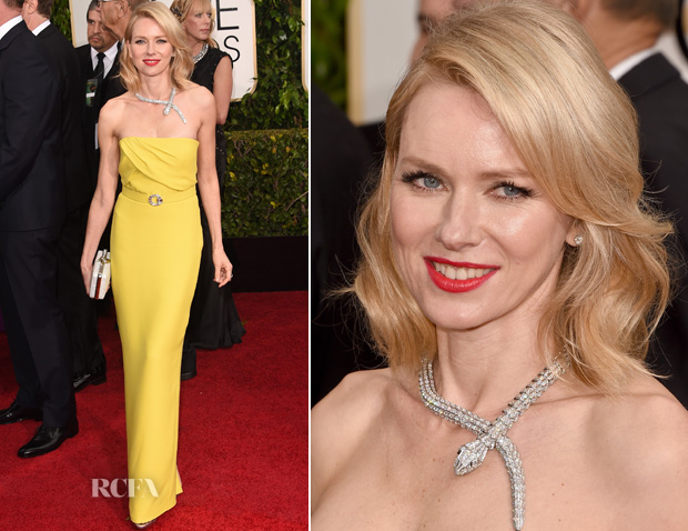 Naomi Watts In Gucci – 2015 Golden Globes
