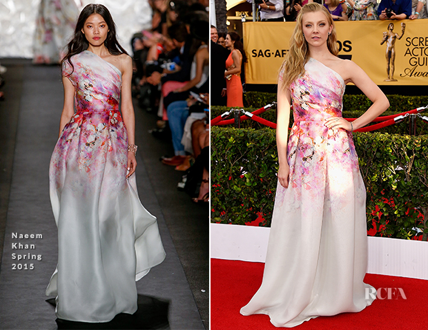 Natalie Dormer In Naeem Khan - 2015 SAG Awards
