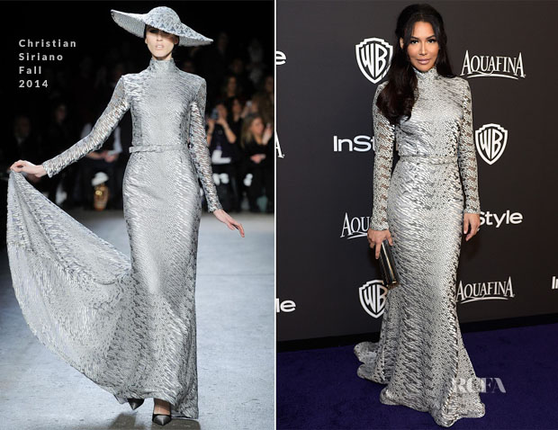 Naya Rivera In Christian Siriano - 2015 InStyle and Warner Bros Golden Globe Awards Post-Party