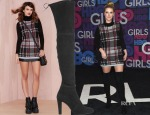 Nicky Hilton's Nasty Gal Plaid Student Turtleneck Sweater Dress & Stuart Weitzman 'Highland' Over the Knee Boots