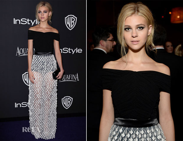 Nicola Peltz in Balenciaga - 2015 InStyle and Warner Bros Golden Globe Awards Post-Party