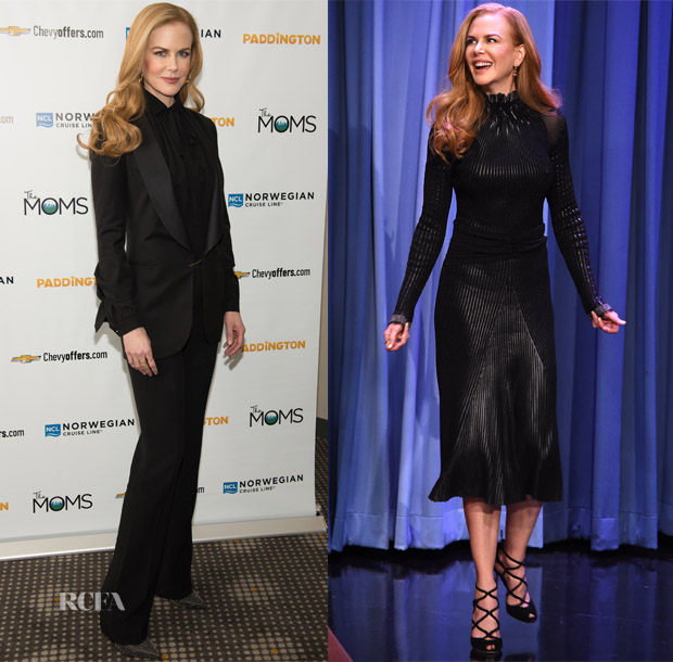 Nicole Kidman In Elie Saab & Salvatore Ferragamo - 'Paddington' New York Screening & The Tonight Show Starring Jimmy Fallon