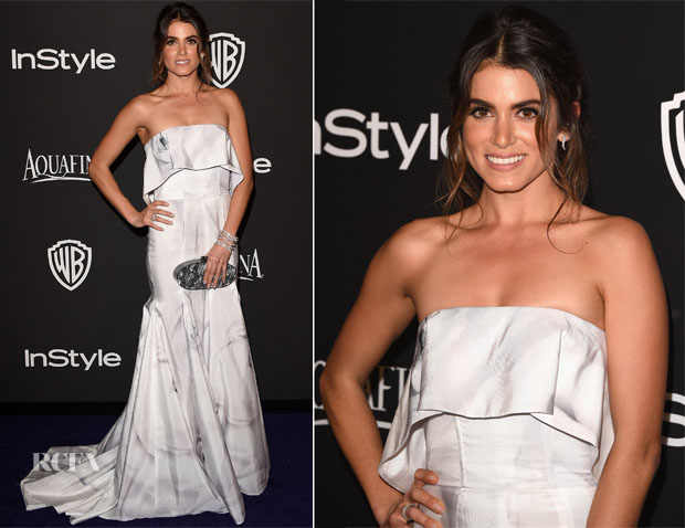 Nikki Reed In Katharine Kidd - 2015 InStyle and Warner Bros Golden Globe Awards Post-Party