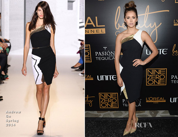 Nina Dobrev In Andrew Gn - Nine Zero One Salon Melrose Place Launch Party