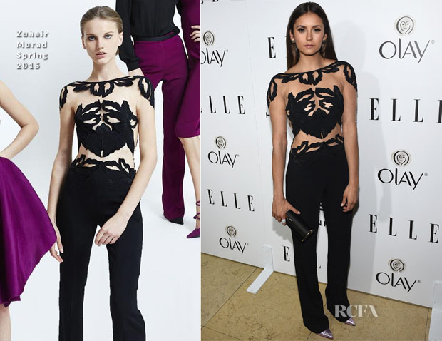 Nina Dobrev In Zuhair Murad - ELLE's Annual Women in Television Celebration