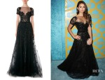 Nina Dobrev's Zuhair Murad Illusion Beaded Full Tulle Gown