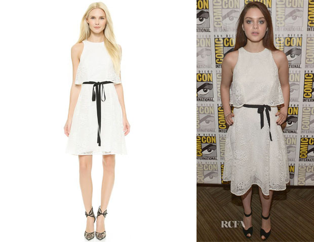 Odeya Rush's Monique Lhuillier Lace Dress with Overlay