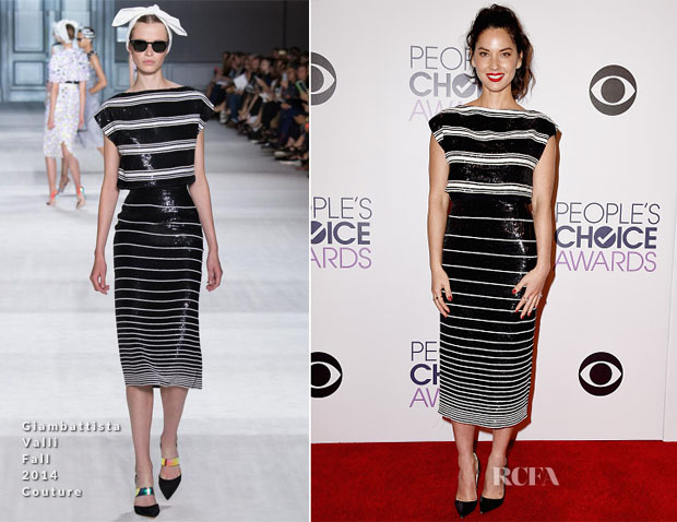 Olivia Munn In Giambattista Valli Couture - 2015 People's Choice Awards