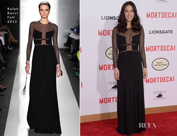 Olivia Munn In Ralph Rucci - 'Mortdecai' LA Premiere