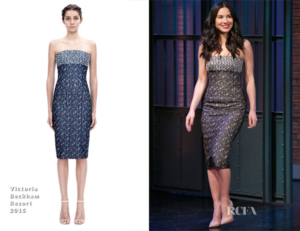 Olivia Munn In Victoria Beckham - Late Night with Seth Meyers