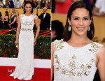 Paula Patton In Aiisha Ramadan - 2015 SAG Awards