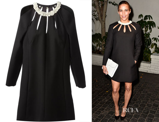 Paula Patton's Valentino floral collar dress